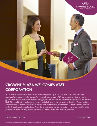 This Fision sales sheet is brand compliant and has been personalized for a specific prospect—AT&T