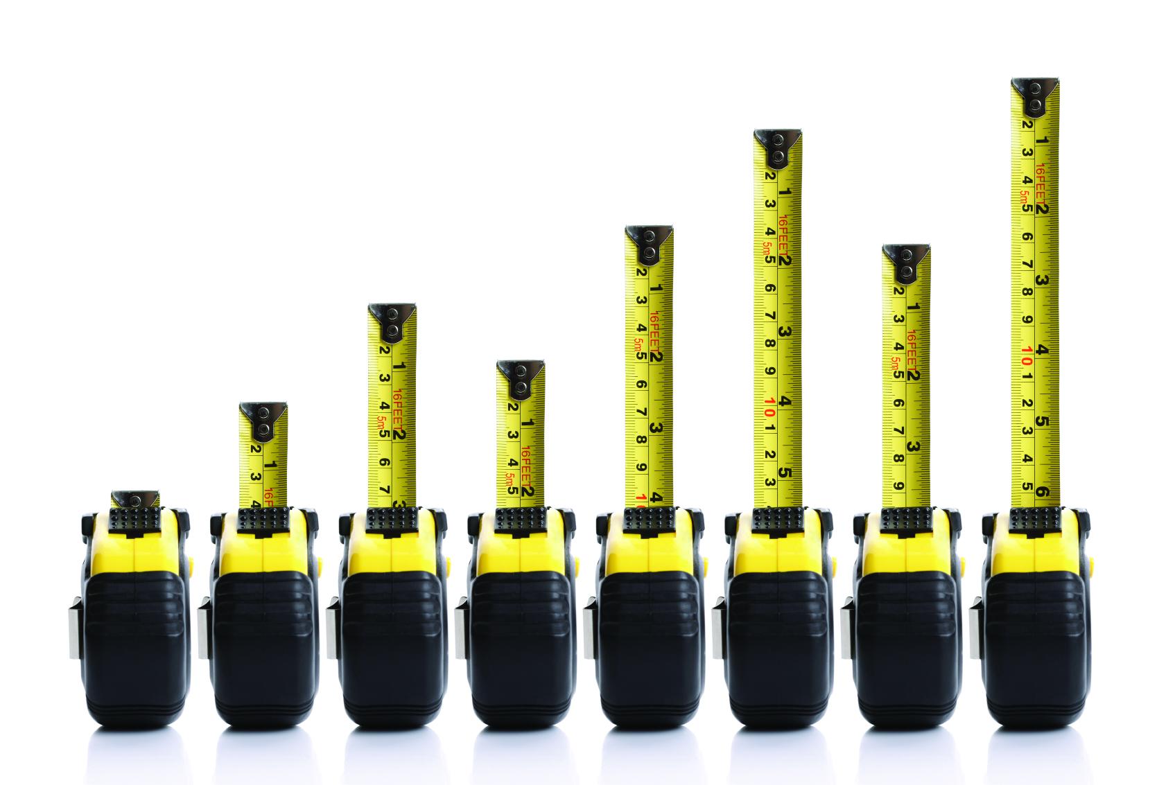 Tape measure bar graph concept